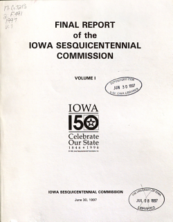 Final Report of the Iowa Sesquicentennial Commission PDF
