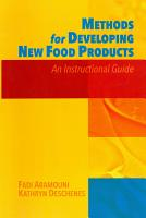 Methods for Developing New Food Products PDF