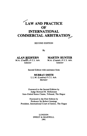 Law and Practice of International Commercial Arbitration PDF
