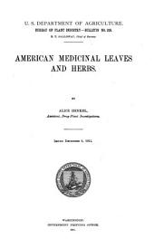 American Medicinal Leaves and Herbs