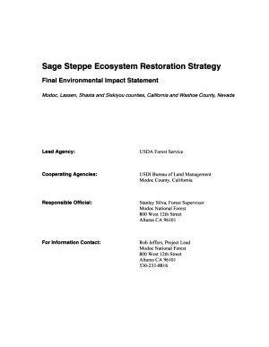 Modoc National Forest  N F    Sage Steppe Ecosystem Restoration Strategy