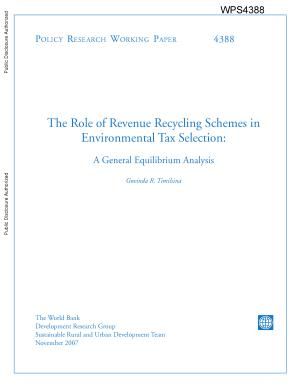 The Role of Revenue Recycling Schemes in Environmental Tax Selection  PDF