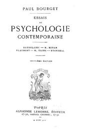 Essais de psychologie contemporaine