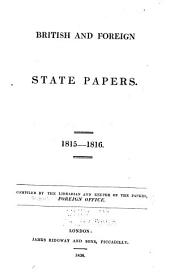 British and Foreign State Papers: Volume 3