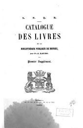 Catalogue des livres de la bibliothèque publique de Bruges: Ier supplément