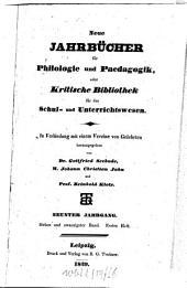 Neue Jahrbücher für Philologie und Pädagogik: Band 27