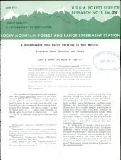 A roundheaded pine beetle outbreak in New Mexico: associated stand conditions and impact