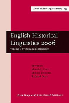 English Historical Linguistics 2006  Syntax and morphology PDF