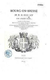Bourg-en-Bresse en MDCCCLIV