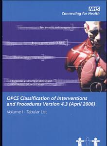 OPCS Classifications of Interventions and Procedures