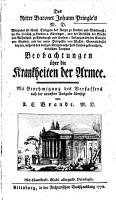 Johann   Pringle   s Beobachtungen   ber die Krankheiten der Armee PDF