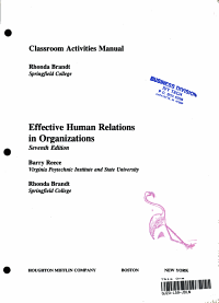 Effective Human Relations in Organizations PDF