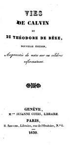 Vies de Calvin et de Théodore de Bèze