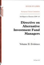 Directive On Alternative Investment Fund Managers Book PDF