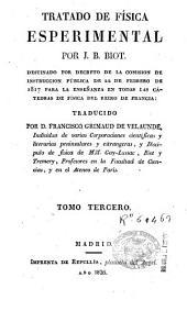 Tratado de física esperimental: Volumen 3