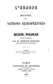 L' Europe, histoire des nations Europeennés: Russie, Pologne, Suède et Norwège