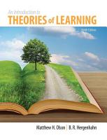 Introduction to Theories of Learning PDF