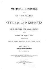 Official Register of the United States ...: Volume 2