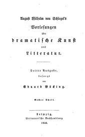 August Wilhelm von Schlegel's sämmtliche werke: -6. bd. Vorlesungen über dramatische kunst und literatur