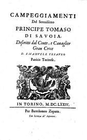 Campeggiamenti Del Serenissimo Principe Tomaso Di Savoia