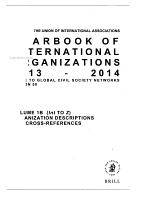 Yearbook of International Organizations 2013 2014 PDF
