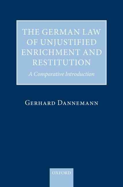 The German Law of Unjustified Enrichment and Restitution