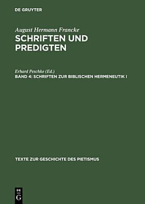 Schriften zur biblischen Hermeneutik I PDF