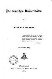 Geschichte der Pädagogik vom Wiederaufblühen klassischer Studien bis auf unsere Zeit: ¬Die deutschen Universitäten. 4