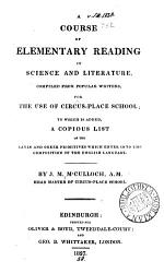 A course of elementary reading in science and literature, compiled by J.M. M'Culloch