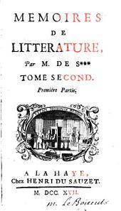 Mémoires de littérature: Volume 2
