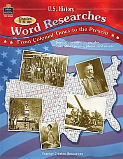 U S  History Word Researches Book