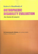 Handbook of Orthopaedic Disability PDF