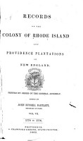 Records of the Colony of Rhode Island and Providence Plantations  in New England  1770 1776 PDF