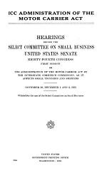 ICC Administration of the Motor Carrier Act