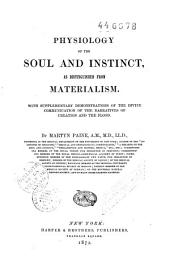 Physiology of the Soul and Instinct, as Distinguished from Materialism