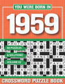 You Were Born In 1959 Crossword Puzzle Book