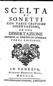 Scelta di Sonetti: con crit. osservazioni