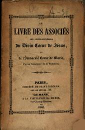 Le livre des associés aux archiconfréries du Divin Coeur de Jésus et de l'Immaculé Coeur de Marie