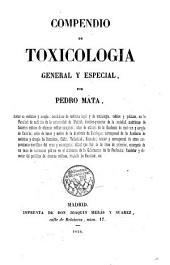 Compendio de toxicologia general y especial