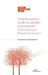 Penser les questions sociales et culturelles contemporaines : quels enjeux pour l'intervention sociale ?