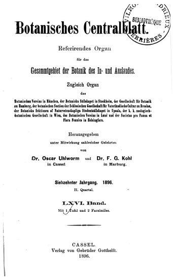 Botanisches Zentralblatt PDF