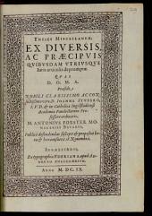 Theses Miscellaneae, Ex Diversis, Ac Praecipuis Quibusdam Utriusque Iuris articulis depromptae