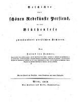 Geschichte der sch  nen Redek  nste Persiens PDF