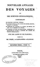 Nouvelles annales des voyages: Volume36