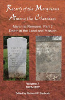 Records of the Moravians Among the Cherokees