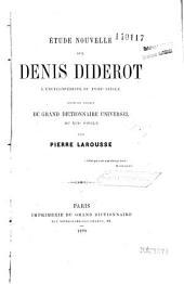 Etude nouvelle sur D. Diderot