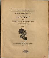 Séance publique annuelle de l'Académie des Inscriptions et Belles-Lettres: 1853