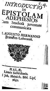 Introductio In Epistolam Ad Ephesios