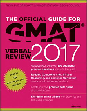 The Official Guide for GMAT Verbal Review 2017 with Online Question Bank and Exclusive Video