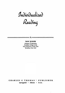 Individualized Reading PDF
